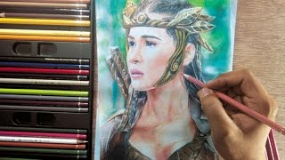 Colored Pencil Drawing   Danaya Sanya Lopez