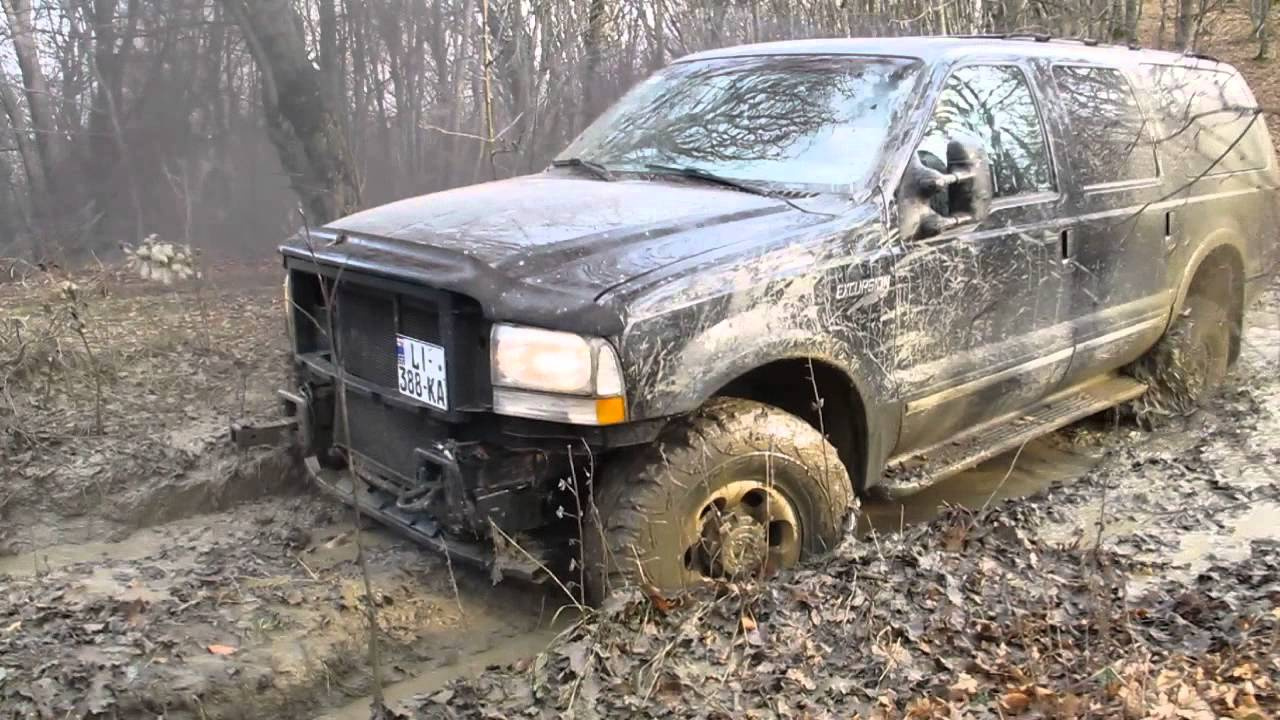 ford excursion limited 73l diesel suv off road fail