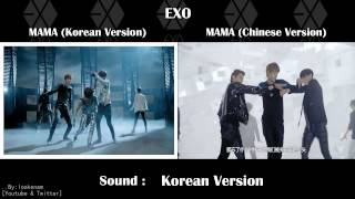 MV.Compare EXO-K MAMA Korean VS EXO-M Chinese ver. [@lookenam]