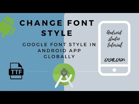 How To Change Font Style In App | Change Default Font Globally In Android Studio