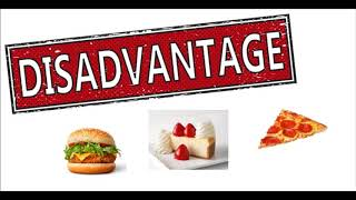 advantages and disadvantages of traditional food restaurants One of the largest disadvantages to food delivery systems is the price when the food is ordered for more than one person, the expense is typically equal to eating out at a nice restaurant every night.