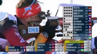 Биатлон Мужчины Гонка преследования 12,5 км. 8 декабря 2013 г. Хохфильцен Австрия