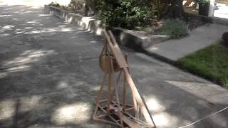 Trebuchet Table Top Model Test Fire