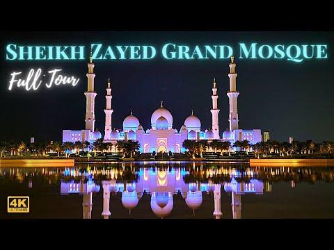 Sheikh Zayed Grand Mosque Abu Dhabi UAE Day & Night View World's Beautiful Mosque 4k