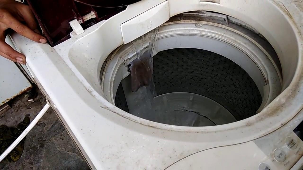 Cara Mudah Memperbaiki Mesin Cuci Otomatis 1 Tabung Tidak Mau Beroperasi Saat Proses Pencucian