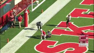 Westerkamp Extends for TD Catch vs. Maryland