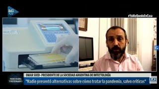 """""""Hay dos vacunas en marcha en la Argentina"""", afirma Omar Sued"""