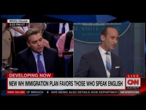 White House Adviser Stephen Miller Clashes With CNN