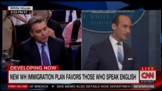 White House Adviser Stephen Miller Clashes With CNN's Jim Acosta