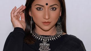 This Flattering Makeup with OXIDISED Jewelry is a must try!!