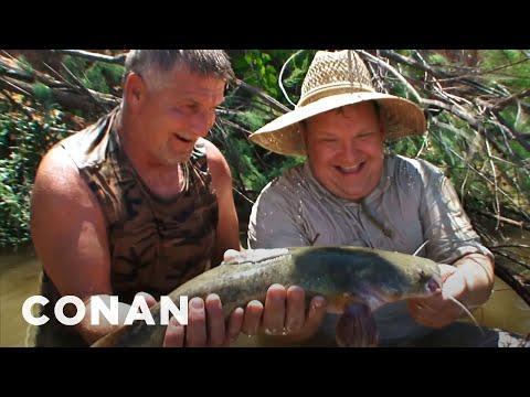 Andy Goes Hillbilly Handfishin' - CONAN on TBS