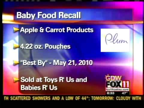 Current Baby Food and Formula Recalls