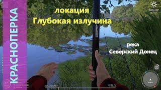 Русская рыбалка 4 река Северский Донец Красноперка под берегом