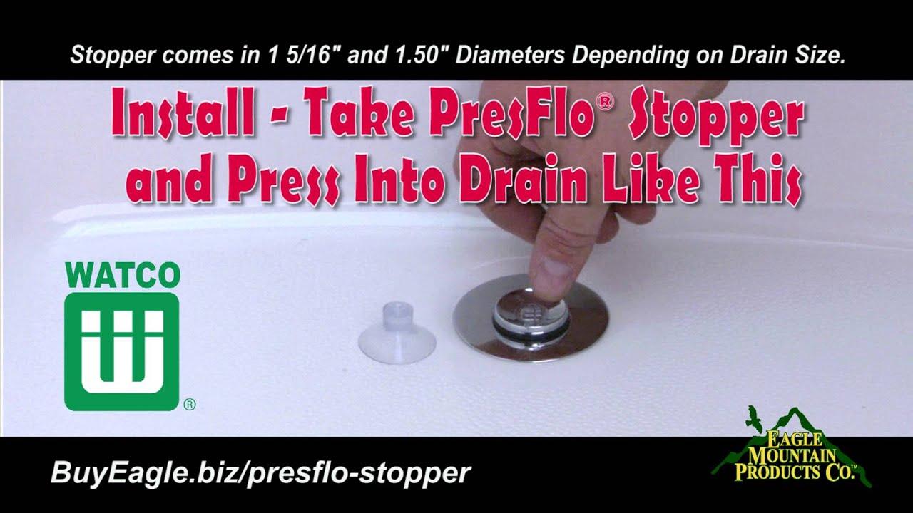 Watco PresFlo® Bathtub Stopper Installation and Removal - YouTube
