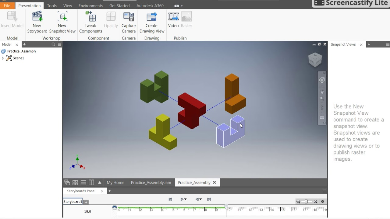 how to make a presentation file in inventor 2018 youtube rh youtube com