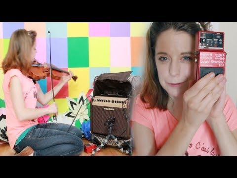 BOSS RC-3 Loop Station Pedal with a Violin