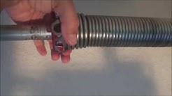 Stuck Garage Door Fix - Spring Adjustment 101