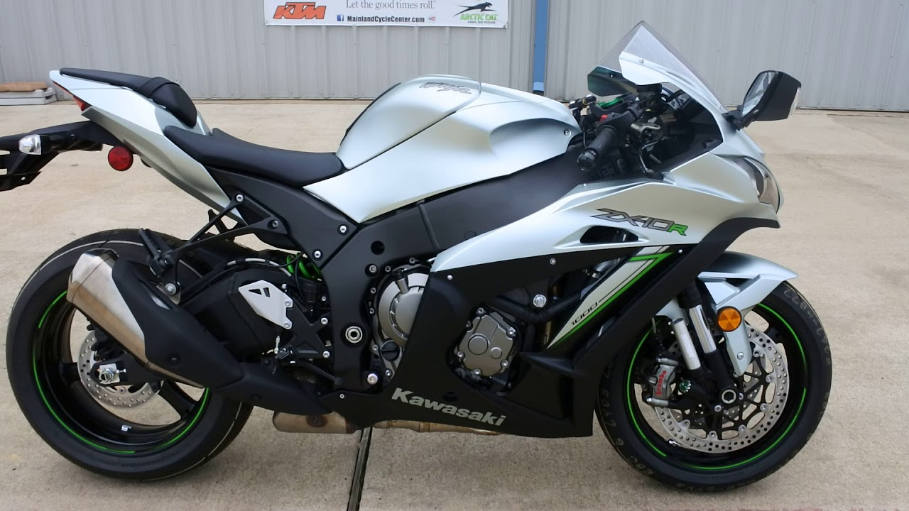 2018 Kawasaki Ninja ZX10R ABS Metallic Matte Fusion Silver Overview and  Review