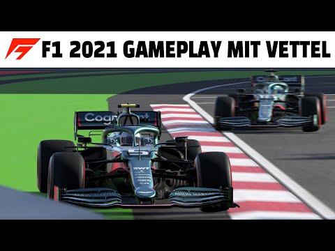 F1 2021 Gameplay mit Sebastian Vettel im Aston Martin in Baku