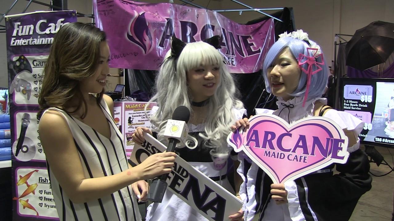 arcane maid cafe - asian american expo 2017 - youtube