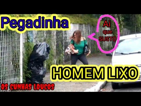 PEGADINHA HOMEM LIXO   ASSUSTANDO PESSOAS  OCL PRANK #2