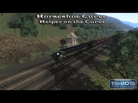 Train Simulator 2015 - Standard Scenario - Horseshoe Curve - Helper on the Curve Part 2 |