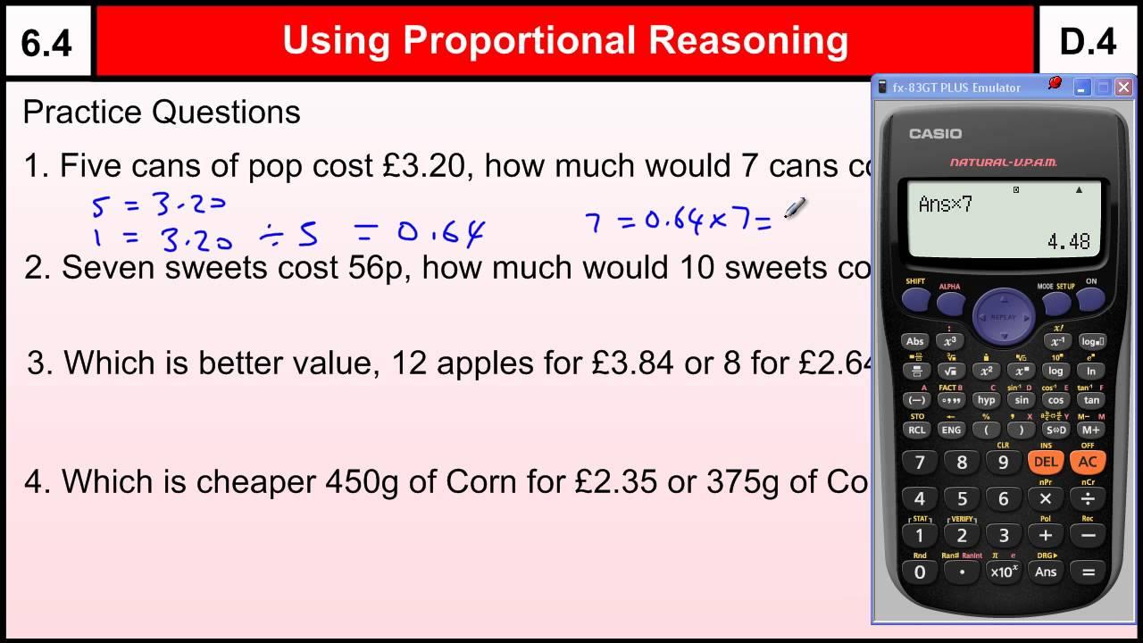 6.4 Using Proportional Reasoning-Basic Maths Core Skills Level 6 ...