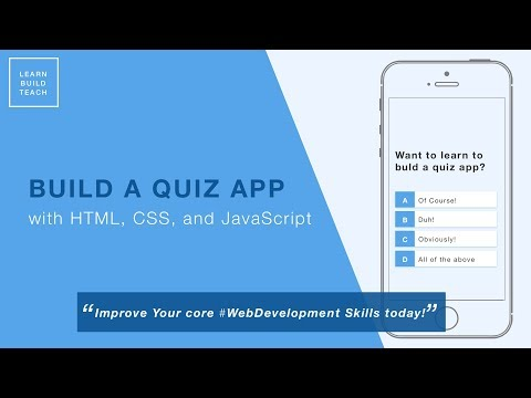 Build A Quiz App (8) - Save High Scores In Local Storage