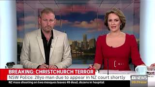 ABC News Breakfast - 16 March 2019 - Christchurch