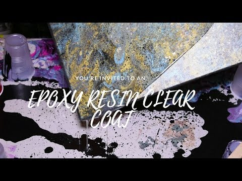 How to put epoxy resin on a painting/photograph