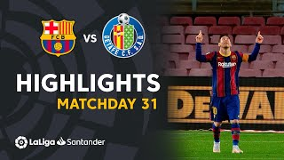 Highlights FC Barcelona vs Getafe CF (5-2)
