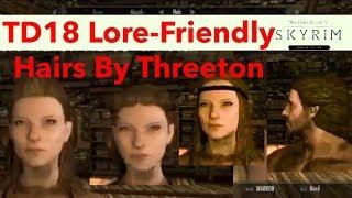 Skyrim SE Xbox One/PC Mods|TD18 Lore-Friendly Hairs By Threeton