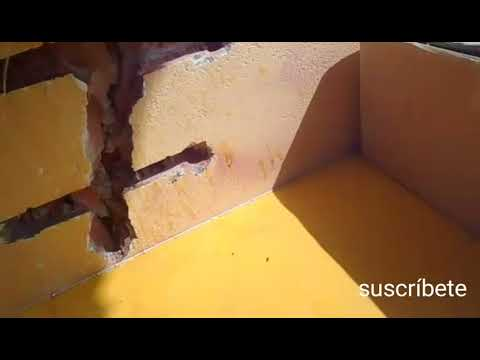 Cómo reparar una grieta peligrosa paso a paso en fachada