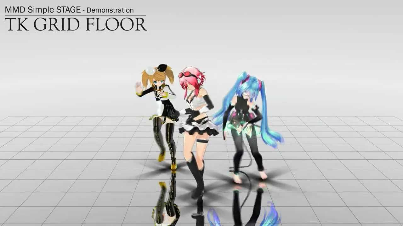 Mmd ステージ配布 Simple Stage Quot Tk Grid Floor Quot Dl Youtube