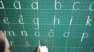 Dạy bảng chữ cái chuẩn chương trình mới 2021 (Phần mô tả có link dạy đánh vần ,luyện chữ, Toán)