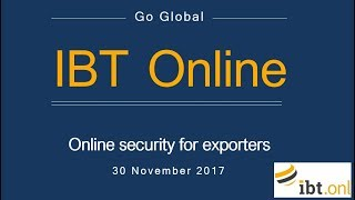 Go Global Webinar: Is your website secure? Online security for Exporters