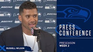 Seahawks Quarterback Russell Wilson Postgame Press Conference