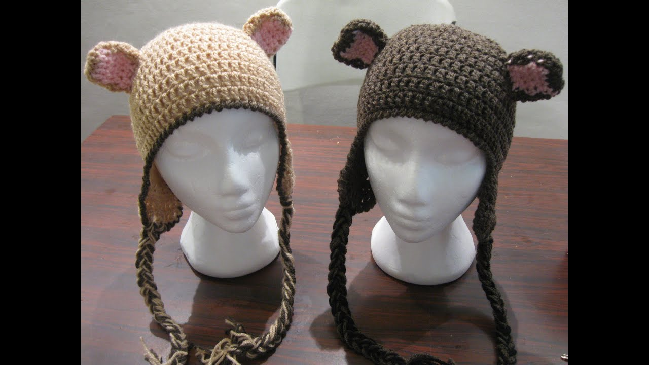 Crochet Bear Ears - With two colors - YouTube