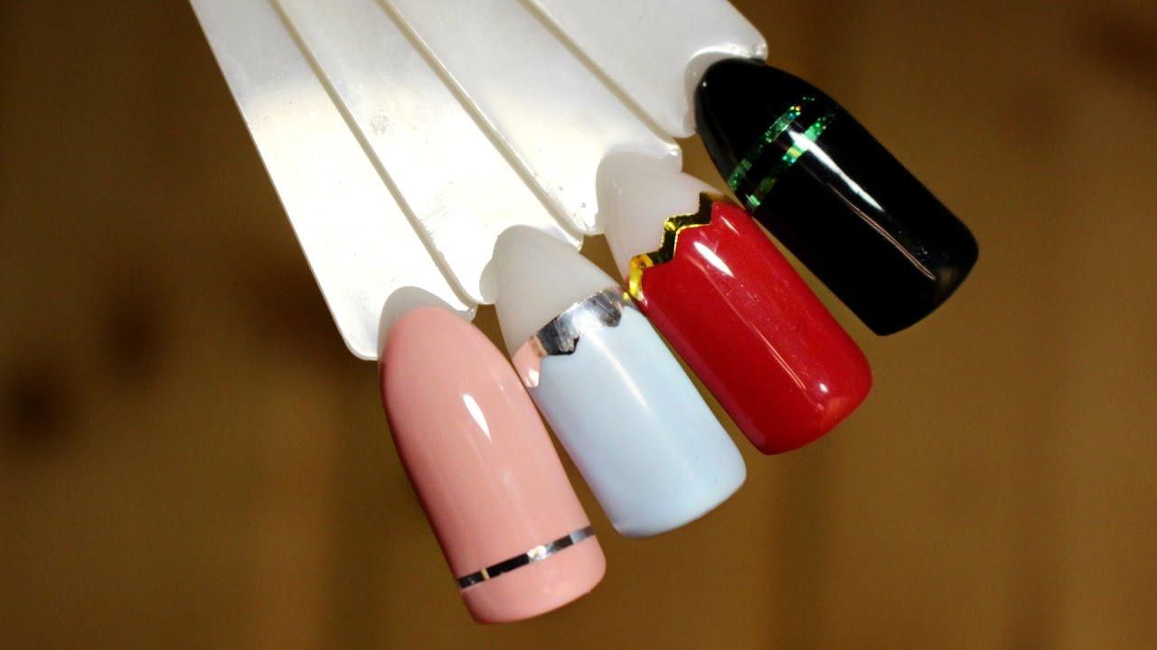Дизайн с лентой для ногтей | Как клеить скотч ленту | Nancy Wave
