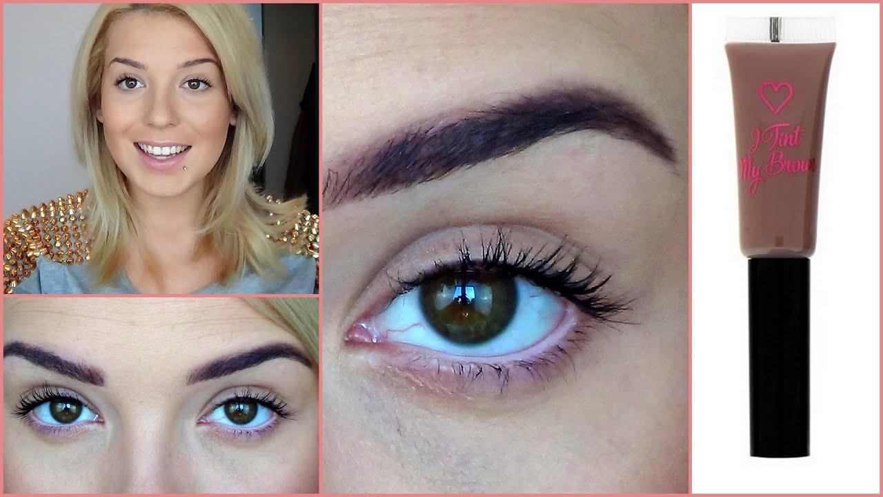 I Tint My Brows Makeup Revolution Medium Youtube
