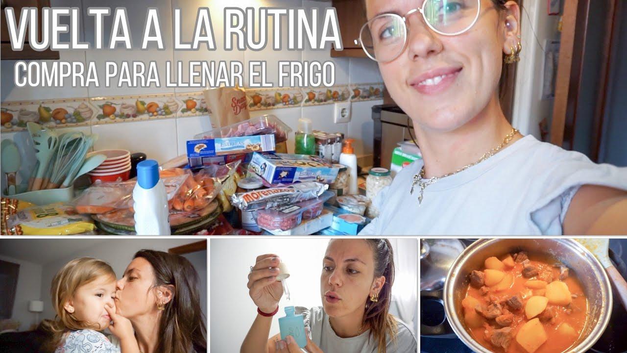 Vuelta A LA RUTINA   COMPRA para rellenar el frigo   abrimos la caja por todo lo alto    Mel Lorenzo