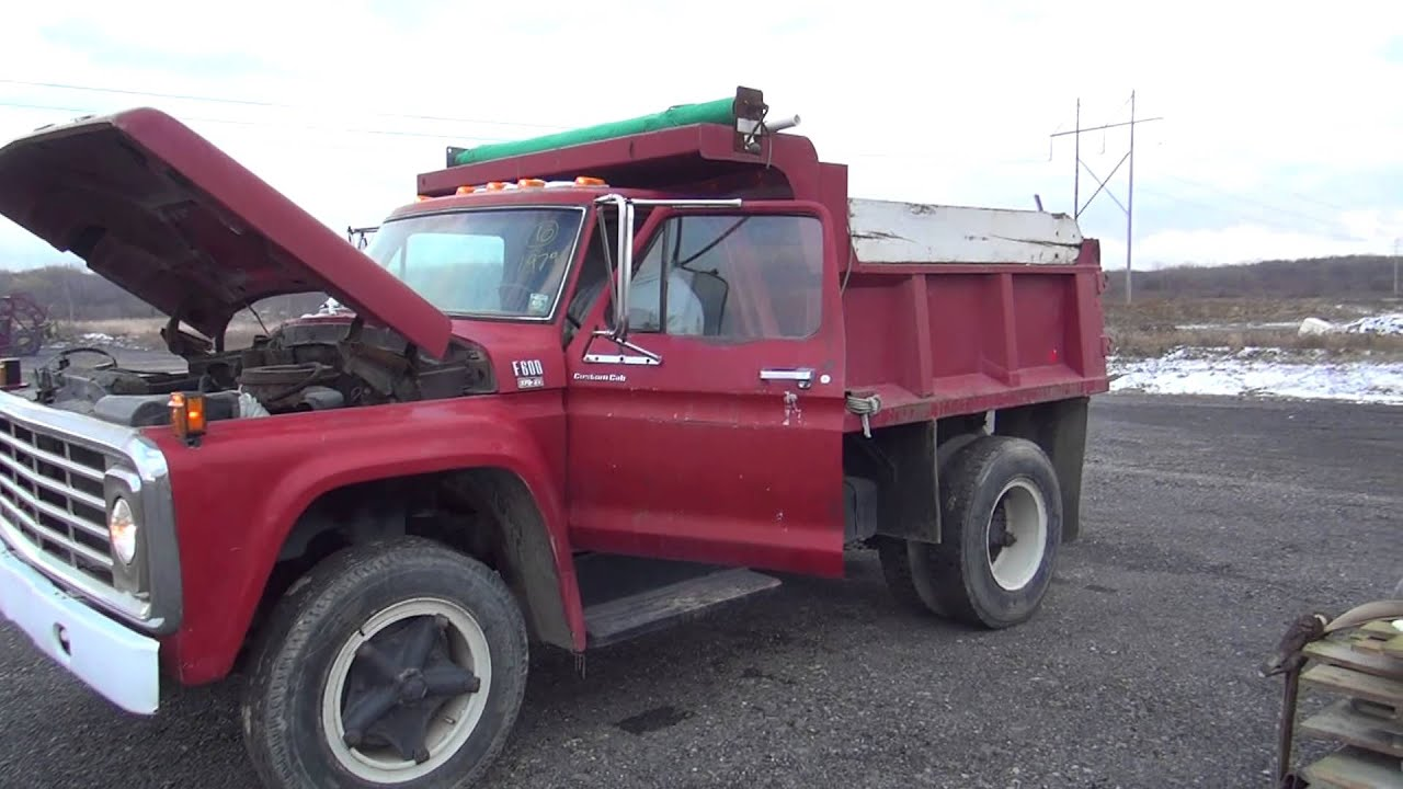 1979 ford f600 dump truck youtube