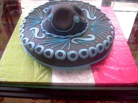c93aac1cf3d2c Sombrero Mariachi cake - YouTube