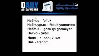 Daily Adiga (circassian - turkish) Words - six words for now.
