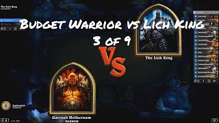 Hearthstone | Beating Lich King w/Budget 760 dust Warrior (3 of 9)