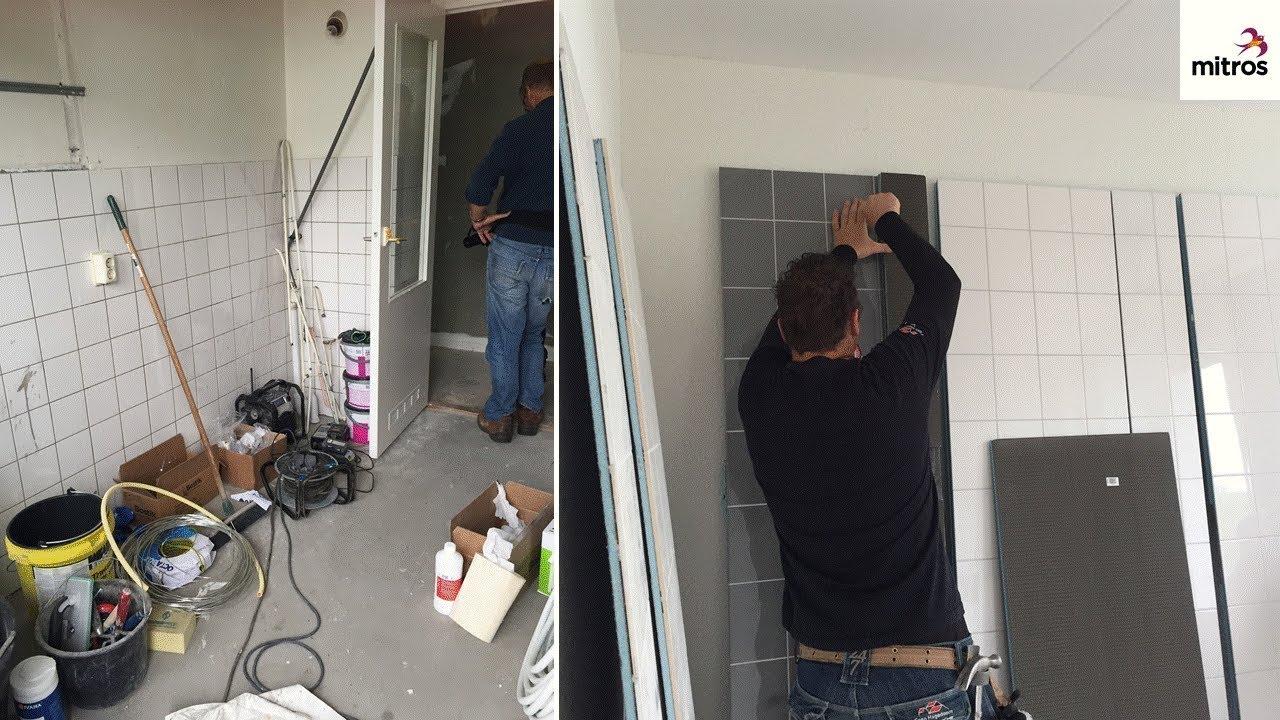 Mitros Badkamerchallenge: Hoe maak je 2 nieuwe badkamers in 1 dag ...