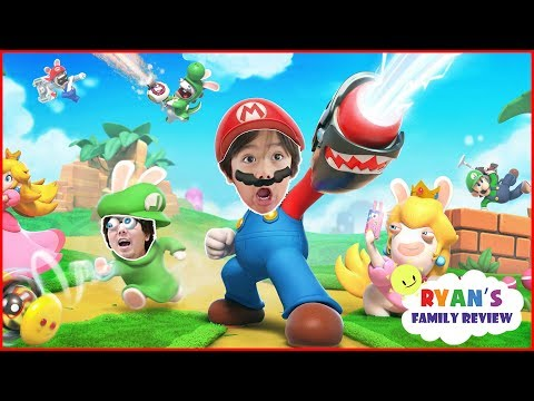 Let's Play Nintendo Switch - Mario + Rabbit Kingdom with Ryan's Family Review