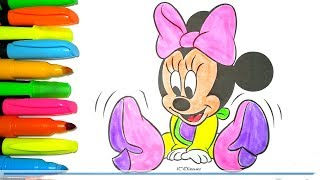 Video Coloring Disney Mickey Mouse Clubhouse Baby Minnie Mouse Colouring pages Bright Colors download MP3, 3GP, MP4, WEBM, AVI, FLV Juli 2018