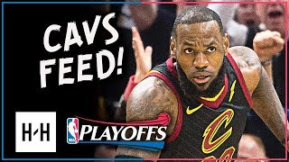 LeBron James Full Game 2 Highlights Cavs vs Pacers 2018 Playoffs - 46 Pts, 12 Reb (Cavs Feed)
