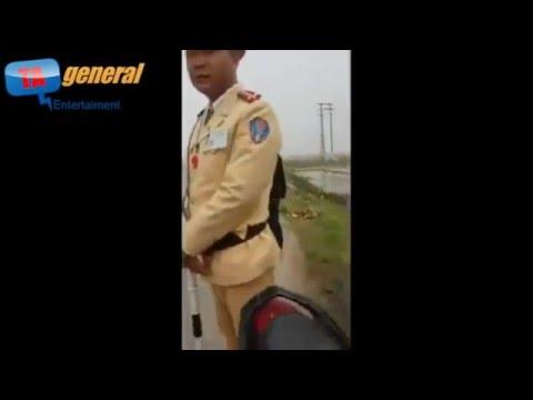 Clip full Cảnh sát giao thông Vĩnh Phúc cứng họng khi gặp bộ đội hơn 10 năm kinh nghiệm chạy xe